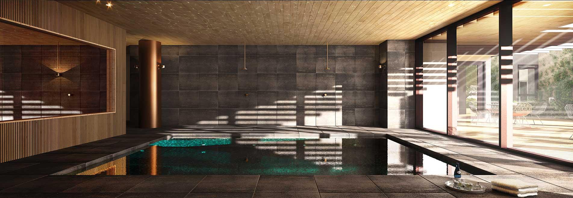 Caulfield Village – <span>Residents' pool, spa and sauna area</span>